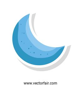 cute moon decoration isolated icon