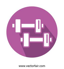 dumbbells gym accessory block style icon
