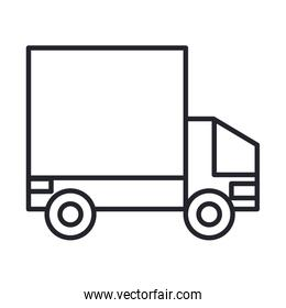 military force truck line and fill style icon