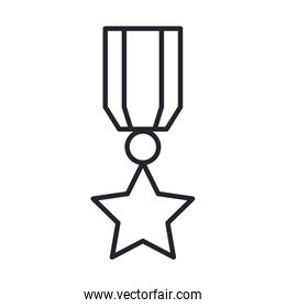 military force medal line and fill style icon