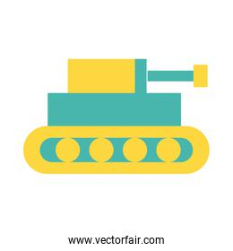 tank military force line and fill style icon