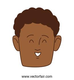 young afro man head avatar character