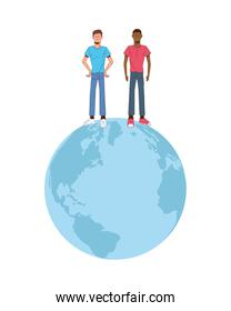 interracial men in world planet