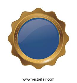 golden circle lace stamp icon