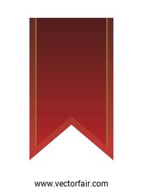 ribbon red medal isolated icon