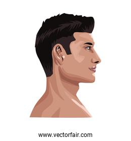 young man profile avatar character