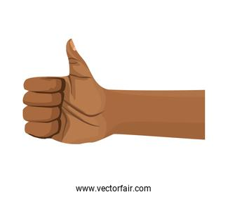 afro hand human fist fight icon