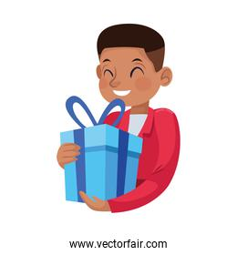 young father with gift character