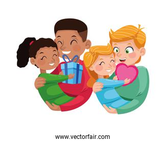 interracial fathers with little daughters characters