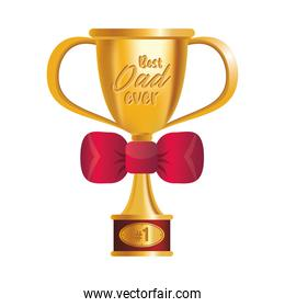 trophy cup award best dad with bowtie