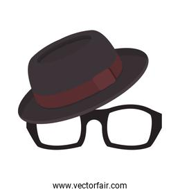 eyeglasses and hat accessories icons