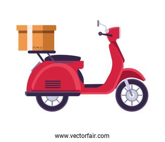 delivery scooter motorcycle isolated icon
