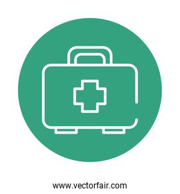 medical kit block style icon