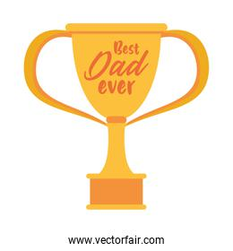 trophy cup award best dad icon