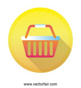 shopping basket detailed style icon