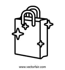 shopping bag line style icon
