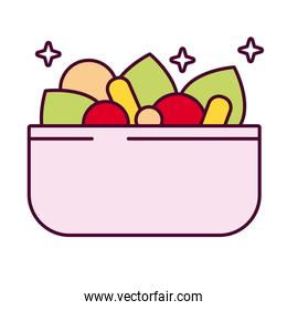 bowl with salad vegetables detailed style icon
