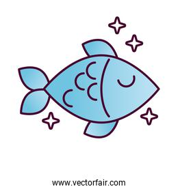 delicious fish healthy food detailed style icon