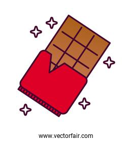 chocolate bar detailed style icon