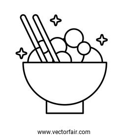 chinese dish food line style icon
