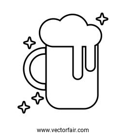 beer jar glass line style icon