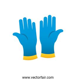 cleaning gloves icon, gradient style