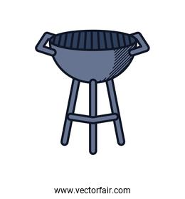 Happy fathers day concept, bbq grill icon, line and fill style