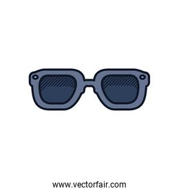 sunglasses icon, line and fill style