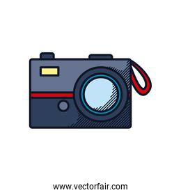 photographic camera icon, line and fill style