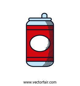 Happy fathers day concept, beer can icon, line and fill style