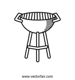 Happy fathers day concept, bbq grill icon, line style
