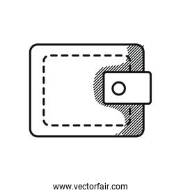 mens wallet icon, line style