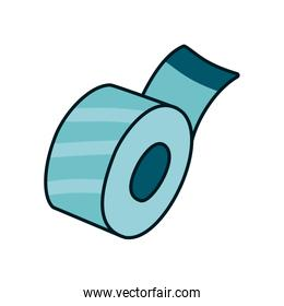 Stationary concept, adhesive tape icon, line and fill style