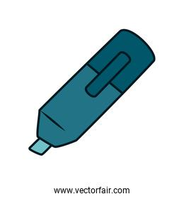highlighter pen icon, line and fill style