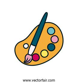 paint palette and brush icon, line and fill style