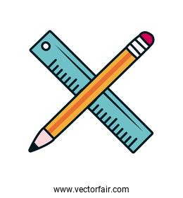 pencil and ruler icon, line and fill style