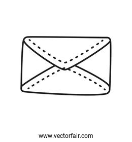 envelope  mail drawn  line style