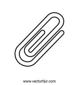 Stationary concept, paper clip icon, line and fill style