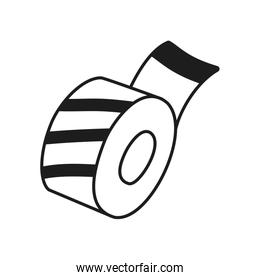 Stationary concept, adhesive tape icon, line style