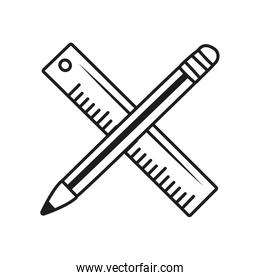 pencil and ruler icon, line style