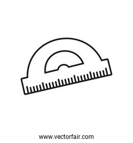 protractor ruler icon, line style