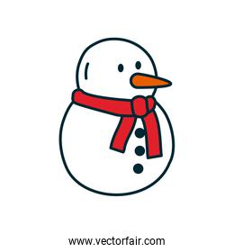 snowman icon, line and fill style