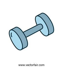 weight dumbells icon, line and fill style