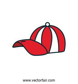 striped cap icon, line and fill style