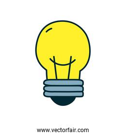 light bulb icon, line and fill style