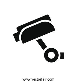 security camera icon, silhouette style