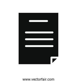 document icon, silhouette style