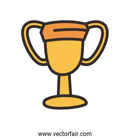 Trophy flat style icon vector design