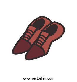 Male shoes flat style icon vector design