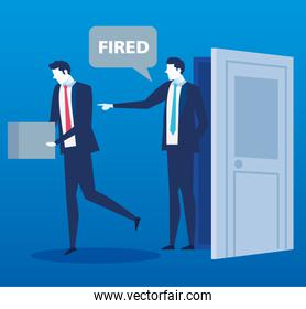 scene of boss saying you are fired employee